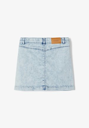 A-line skirt - light blue denim