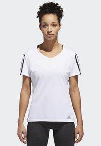adidas Performance - RUNNING 3-STRIPES T-SHIRT - Print T-shirt - white - 0