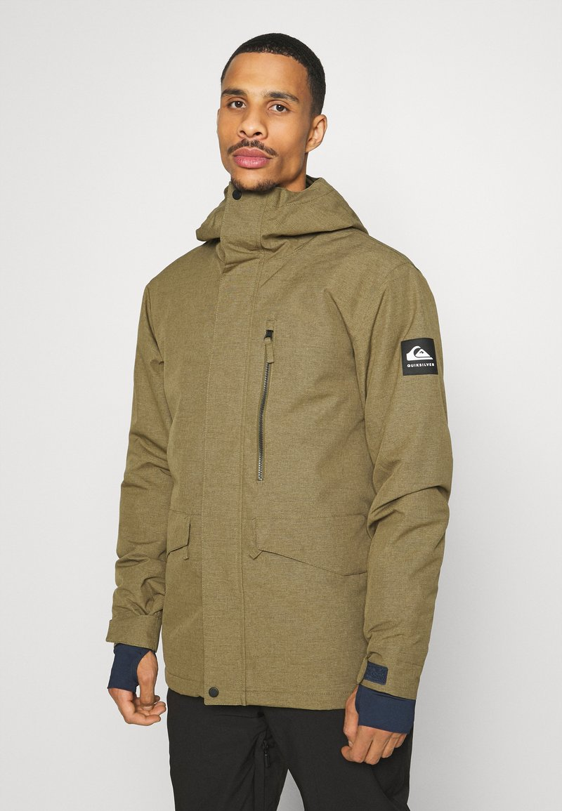 Quiksilver - MISSION SOLID - Snowboard jacket - military olive