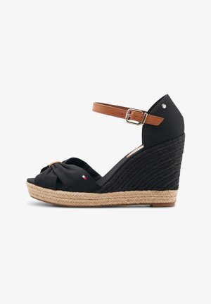 BASIC - Wedge sandals - schwarz