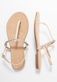 Anna Field Wide Fit - T-bar sandals - nude - 3