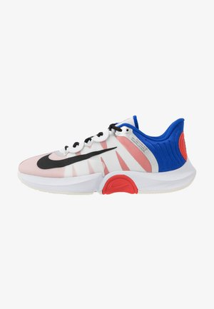 COURT AIR ZOOM GP TURBO - Multicourt tennis shoes - white/black/racer blue/light crimson