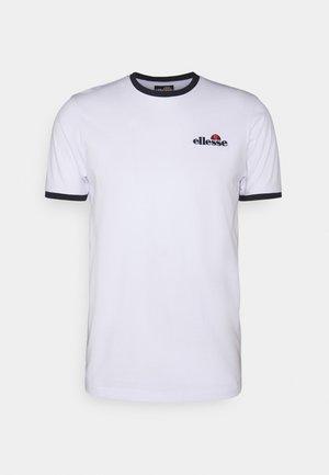 MEDUNO TEE - Print T-shirt - white