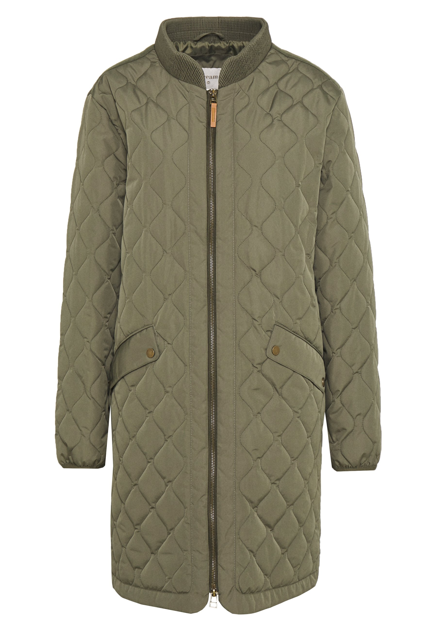 Kaffe KAMICA QUILTED COAT Kort kåpe frakk grape leaf