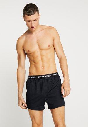 JACWOVENBOXERSHORTS 3 PACK - Boxer shorts - black
