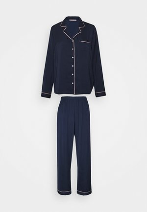 AMANDA LONG PJ SET - Pyjama - dark blue