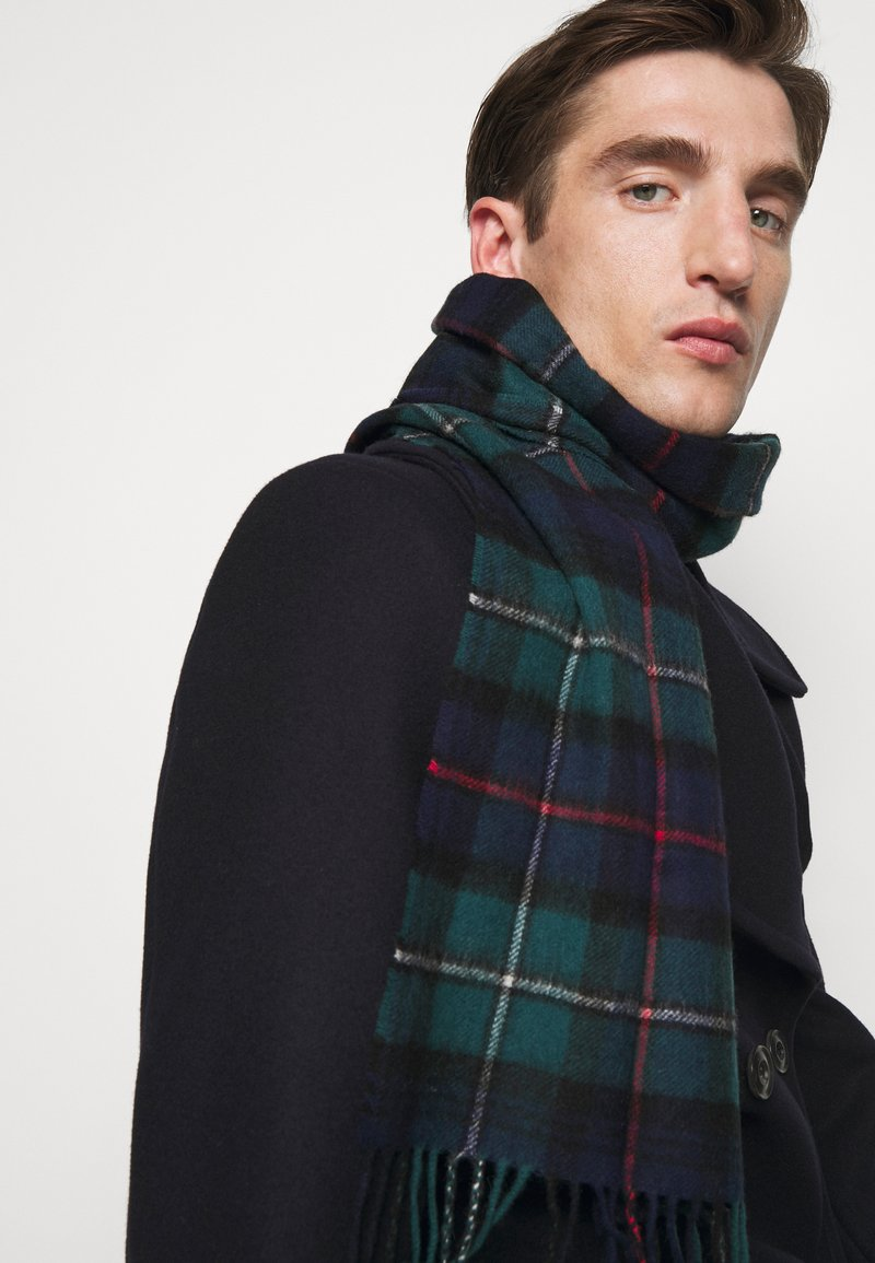 Barbour - NEW CHECK TARTAN SCARF - Scarf - blue