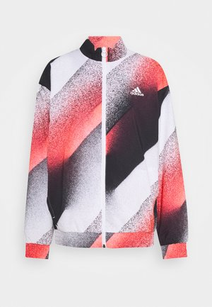 Training jacket - white/signal pink/black