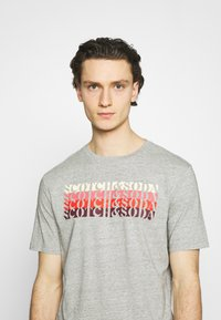 Scotch & Soda - LOGO - T-shirt print - grey melange - 3