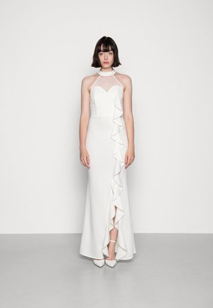 CHRISTIE RUFFLE MAXI DRESS - Vestito di maglina - white
