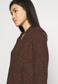 Esprit - EASY TUNIC DRESS - Day dress - brown - 4