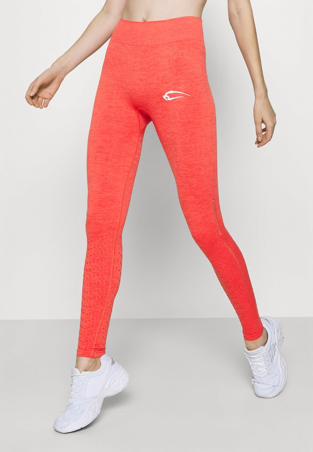 SEAMLESS LEGGINGS SNIP - Legging - koralle