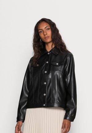 INDOOR TRUCKER - Leather jacket - black