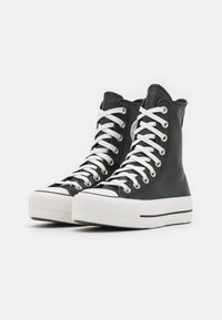 Converse - CHUCK TAYLOR ALL STAR LIFT  - High-top trainers - black/white - 1