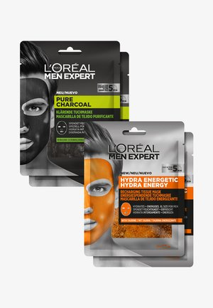 HYDRA ENERGY & PURE CHARCOAL FACE MASK SET - Skincare set - -