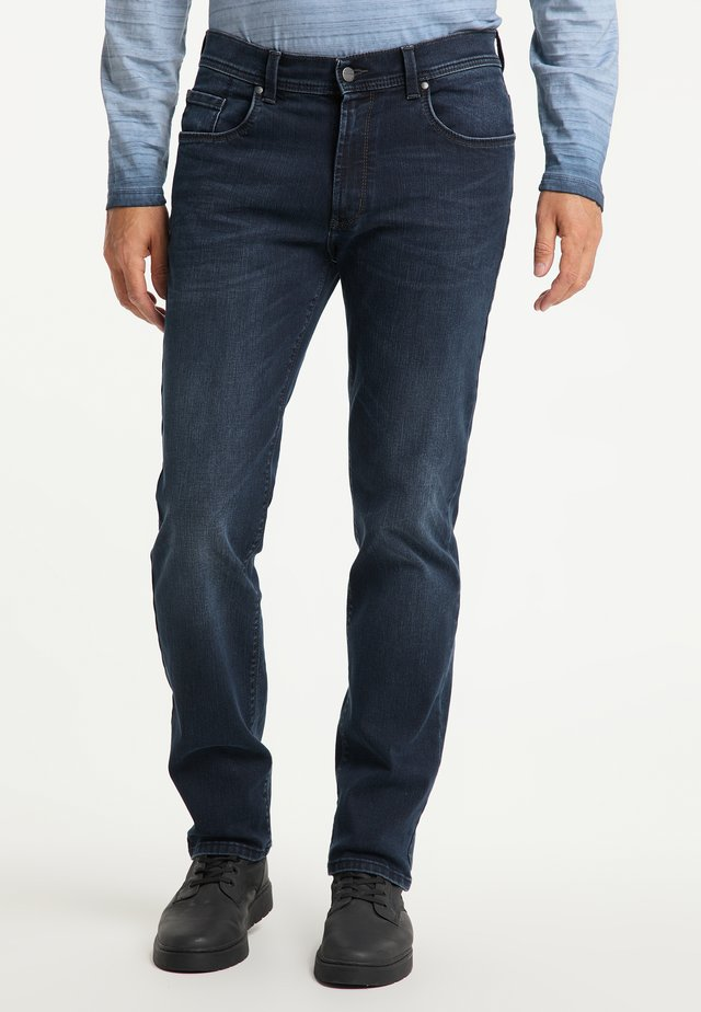 THOMAS - Straight leg jeans - dark used