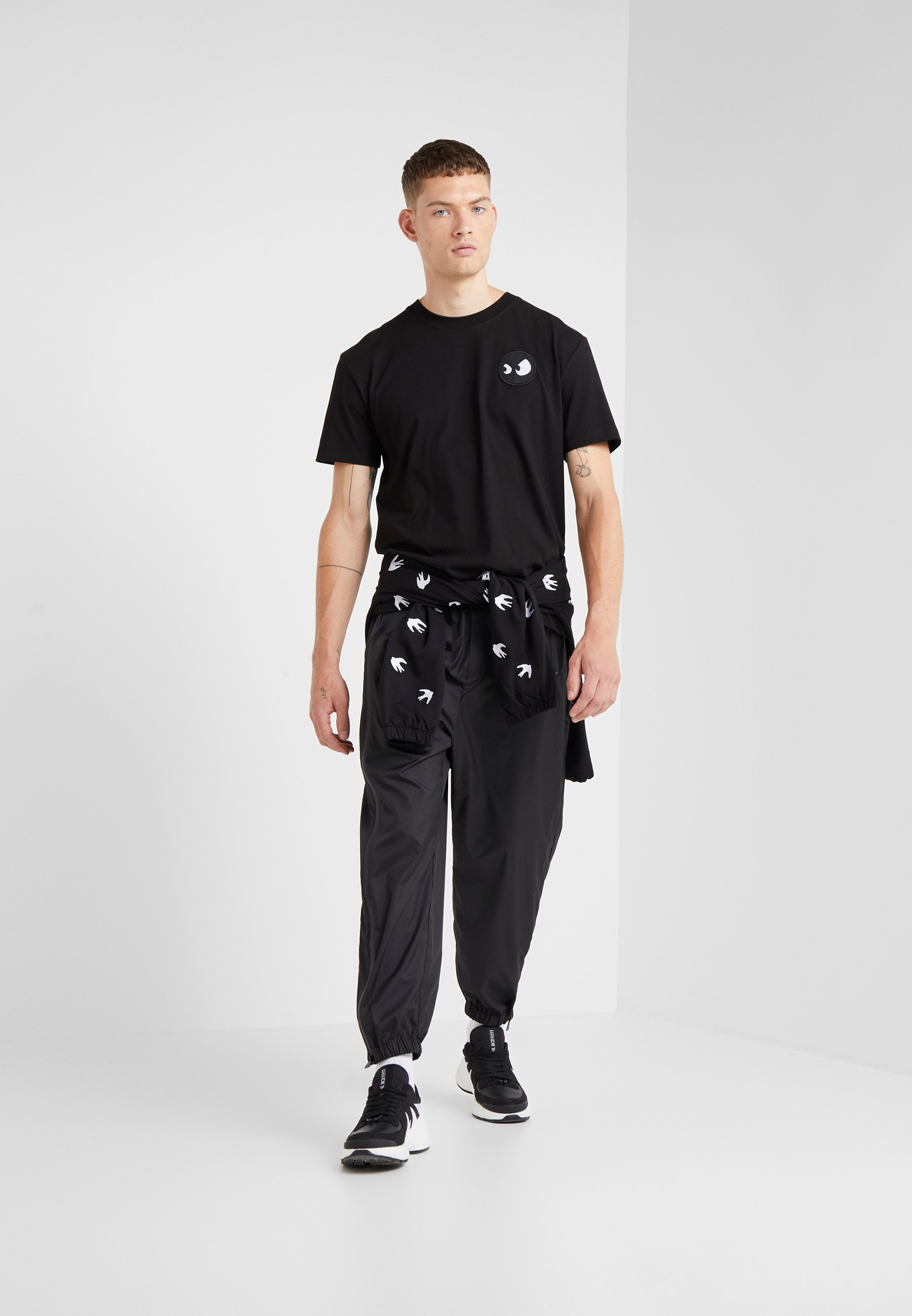 Mcq Alexander Mcqueen Dropped Shoulder - T-shirt Print Black