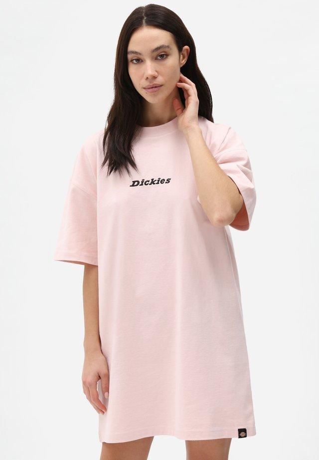 Sukienka z dżerseju - light pink