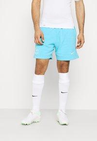 Nike Performance - FC BARCELONA SHORT - Club wear - lagoon pulse/white - 0