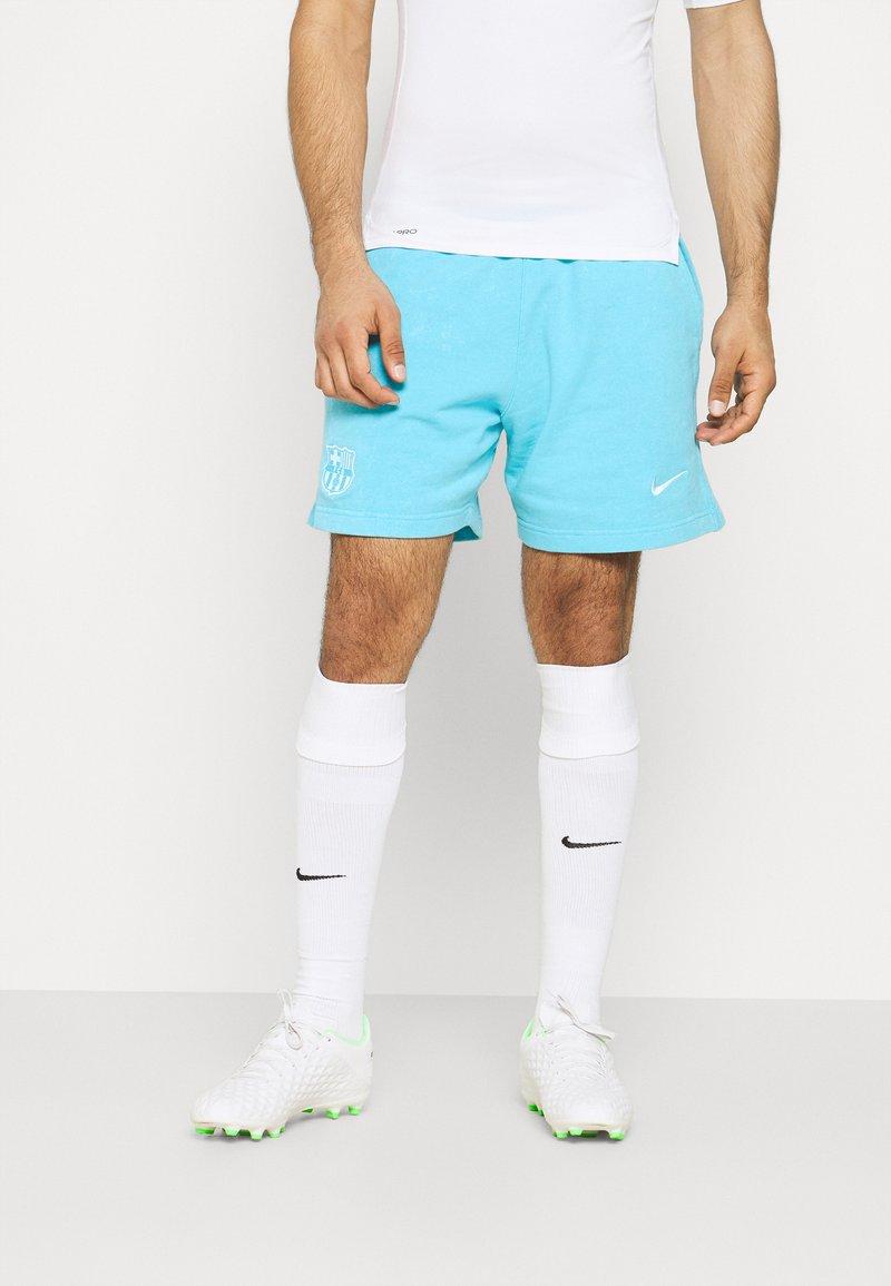 Nike Performance - FC BARCELONA SHORT - Club wear - lagoon pulse/white