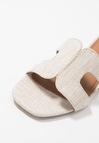 Dune London WIDE FIT - WIDE FIT LOUPE - Mules - natural - 2