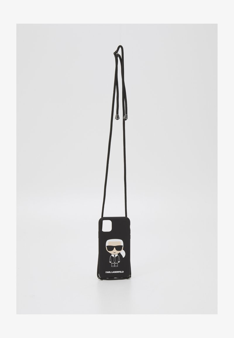 KARL LAGERFELD - IKONIK WITH CORD IP11 - Handytasche - black