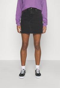 Dr.Denim - ECHO SKIRT - Mini skirt - charcoal black - 0