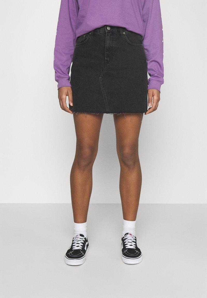 Dr.Denim - ECHO SKIRT - Mini skirt - charcoal black