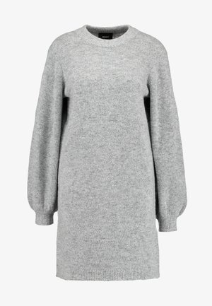 OBJEVE NONSIA - Robe pull - light grey melange
