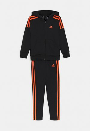 UNISEX - Tracksuit - black/true orange