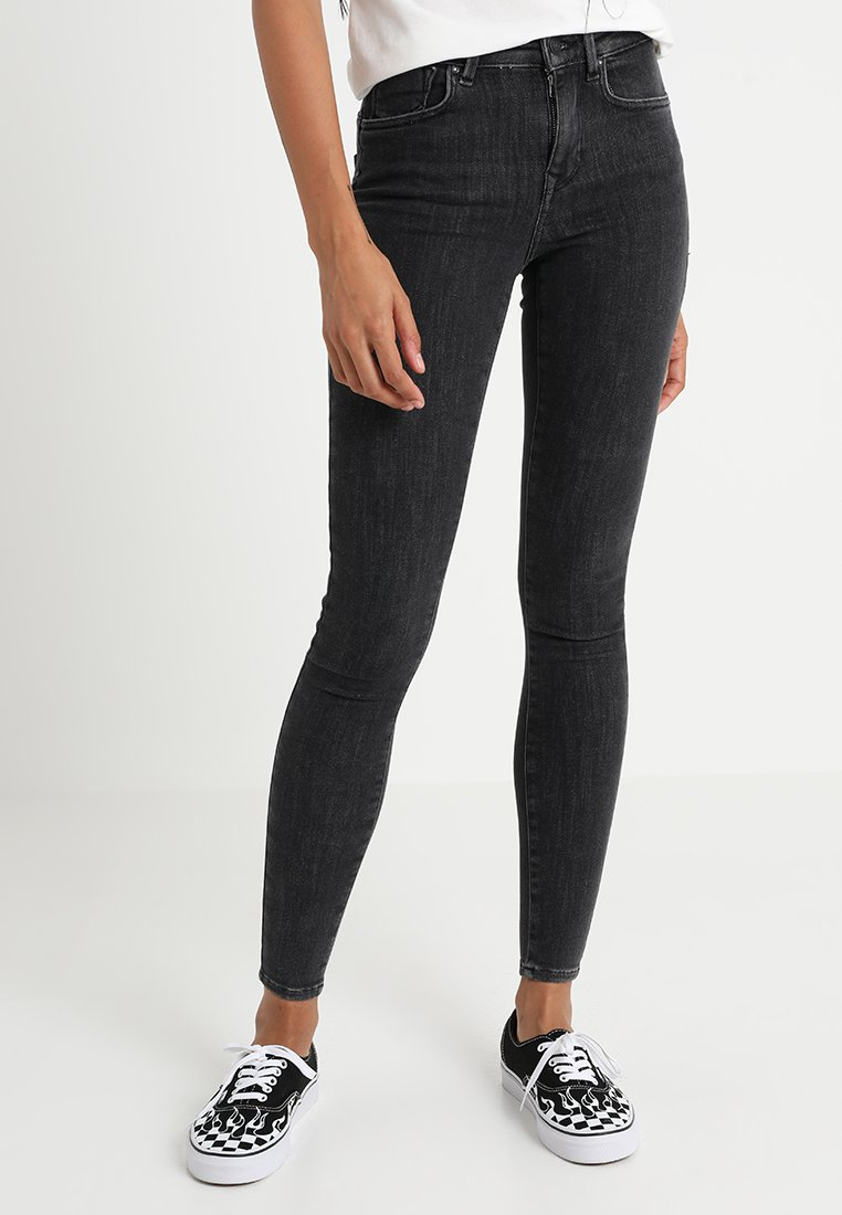 ONLY - ONLPOWER MID PUSH UP - Jeans Skinny Fit - grey denim