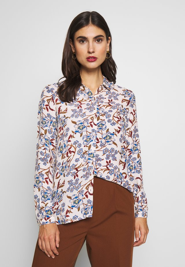 CAMISA FLOR INDIGO - Button-down blouse - Beige