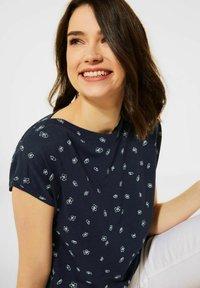 Cecil - MIT MINIMAL PRINT - Print T-shirt - blau - 2