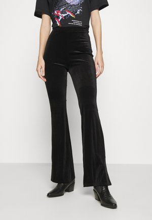 TORA TROUSERS - Tygbyxor - black