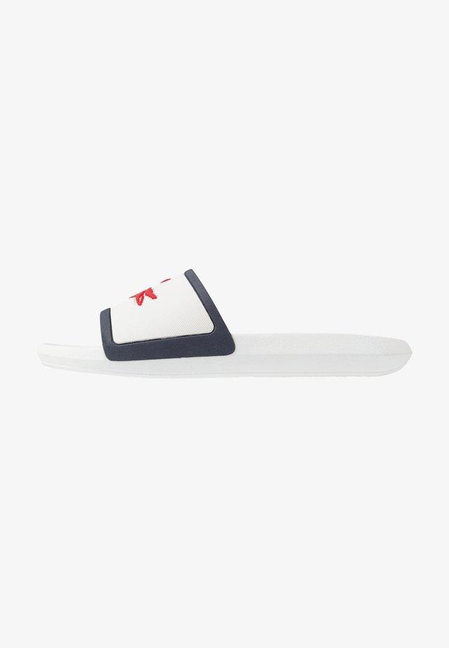 CROCO SLIDE - Sandály do bazénu - white/navy/red