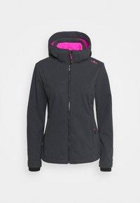 Campagnolo - WOMAN JACKET ZIP HOOD - Soft shell jacket - grey/nero - 0