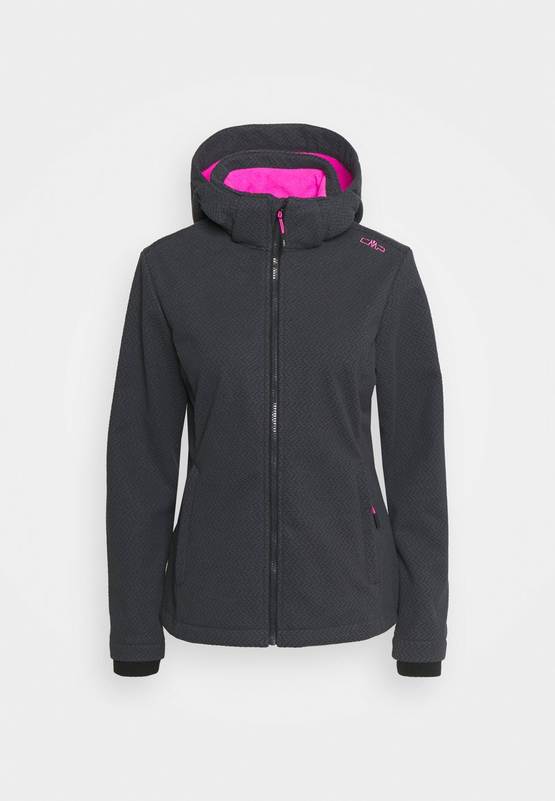 Campagnolo - WOMAN JACKET ZIP HOOD - Soft shell jacket - grey/nero