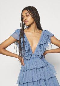 Lace & Beads - MINI - Cocktail dress / Party dress - blue - 4