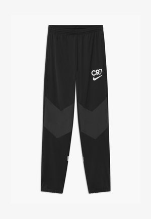 CR7 - Tracksuit bottoms - black/white/iridescent