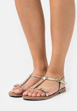 T-bar sandals - gold
