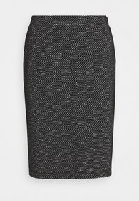Kaffe - TIPPIE SKIRT - Pencil skirt - black/chalk - 3