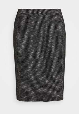 TIPPIE SKIRT - Falda de tubo - black/chalk