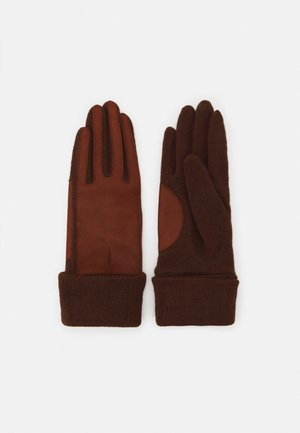 Gloves - rust brown