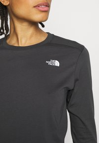 The North Face - WOMENS SIMPLE DOME TEE - Bluzka z długim rękawem - asphalt grey - 4