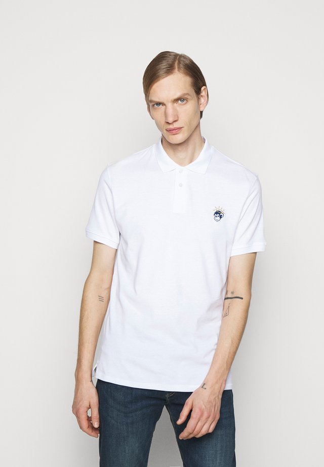 MENS REG FIT MONKEY - Poloshirt - white