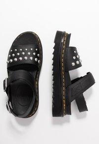 Dr. Martens - VOSS STUD - Platform sandals - black - 3