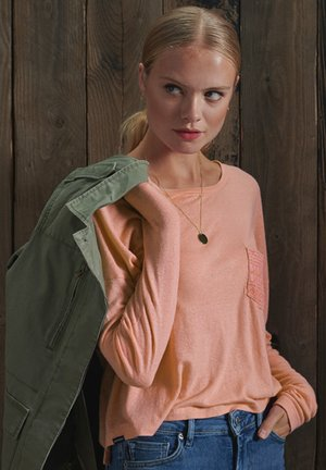 MONTAUK LACE SLOUCH - Long sleeved top - rust pink