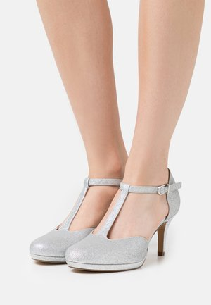 Escarpins à plateforme - silver glam