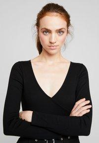 Even&Odd - BODYSUIT - Long sleeved top - black - 3