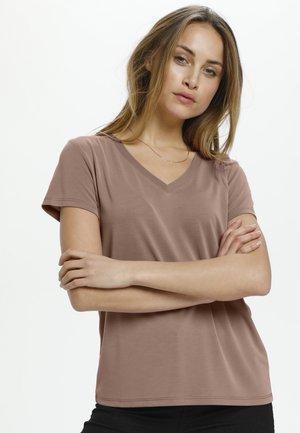 COLUMBINE - Basic T-shirt - brownie